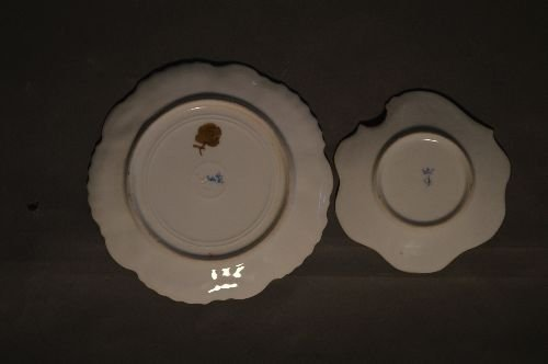 """4 PIECES EARLY DRESDEN PORCELAIN; 7 1/2"""" AND SMALLER - 3"""