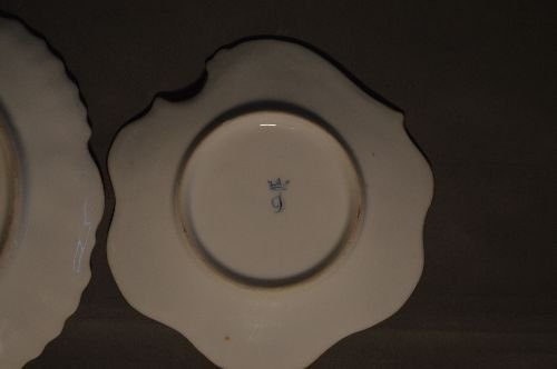 """4 PIECES EARLY DRESDEN PORCELAIN; 7 1/2"""" AND SMALLER - 5"""