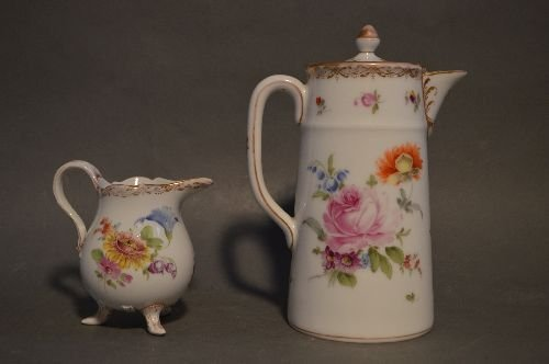 """4 PIECES EARLY DRESDEN PORCELAIN; 7 1/2"""" AND SMALLER - 7"""