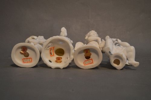 "5 HUMMEL'S AND 4 PORCELAIN ANGELS; 6"" AND SMALLER - 3"