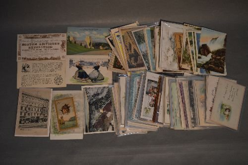 3 CIGAR BOXES OF VINTAGE POSTCARDS, CHRISTMAS, - 4