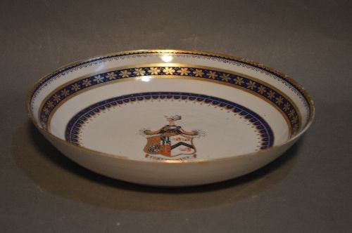 """1765 CHINESE EXPORT 9.5"""" PLATE BEARING THE  ELPHINSTONE"""