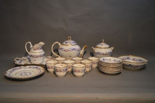 EARLY LIMOGES HAND PAINTED PORCELAIN LUNCHEON SERVICE