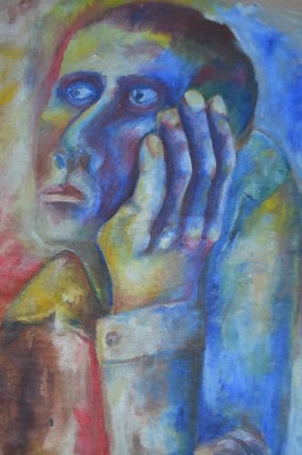 UNSIGNED 1960'S PORTRAIT OF A MAN - 2