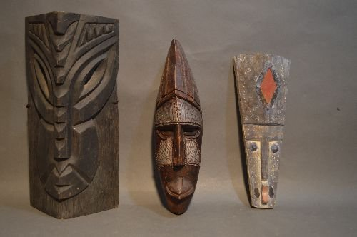 CARVED AFRICAN MASK GROUPING - 2