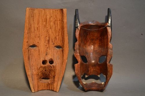 CARVED AFRICAN MASK GROUPING - 5