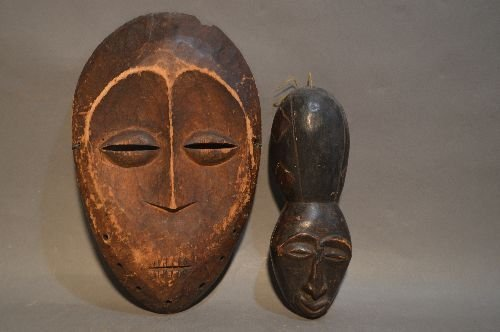 CARVED AFRICAN MASK GROUPING - 6