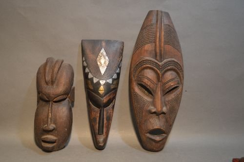 5 AFRICAN AND ASIAN MASKS - 2