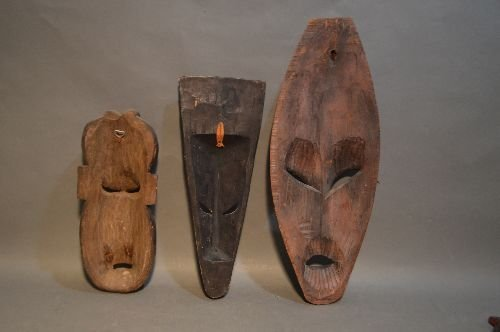 5 AFRICAN AND ASIAN MASKS - 3