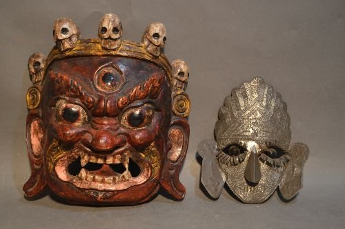5 AFRICAN AND ASIAN MASKS - 4