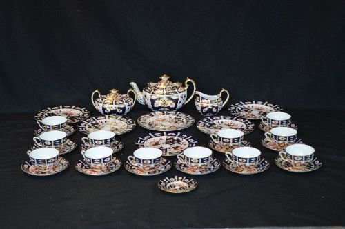 ROYAL CROWN DERBY FOR TIFFANY PORCELAIN LUNCHEON SET