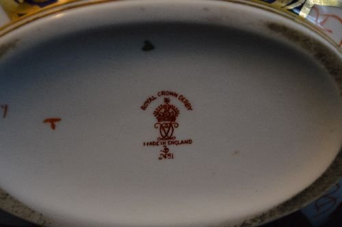 ROYAL CROWN DERBY FOR TIFFANY PORCELAIN LUNCHEON SET - 3