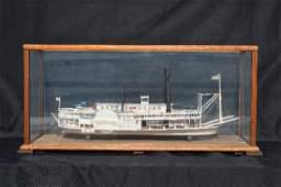 CASED SHIP MODEL OF ROBERT E LEE  RIVERBOAT