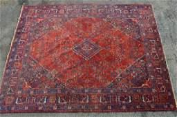 "ANTIQUE ROOM SIZED  PERSIAN CARPET, 13'7"" X 10'9"""