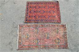 2 ANTIQUE PERSIAN RUG 77 x 40 AND 62 x 43 12