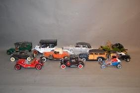 """LARGE LOT OF COLLECTIBLE DIE CAST CARS; 8"""" AND SMALLER"""
