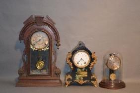 3 ANTIQUE MANTLE CLOCKS