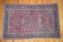 ANTIQUE PERSIAN AREA RUG WITH MOSQUE  HIGH KNOT COUNT