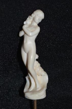 """3"""" EXQUISITELY CARVED FIGURE OF APHRODITE ON AN"""