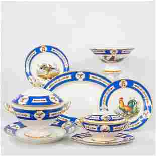 A collection of dinner service parts, Manufacture