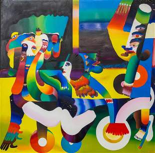 ATILA (1931-1987) A large painting, oil on canvas. 1969