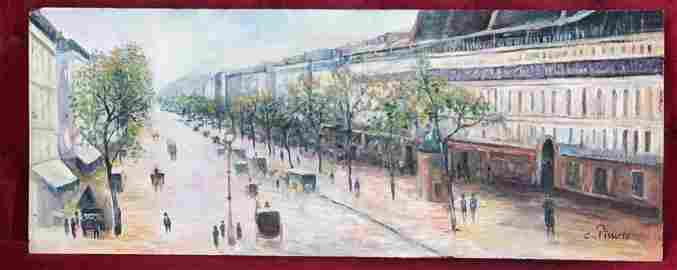 Camille Pissarro oil on wood painting signed