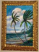 AE Backus oil painting signed  stamped framed