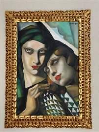 Tamara de Lempicka Oil on Canvas, Signed & Sealed