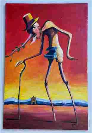 Salvador Dalí Oil on Canvas, Signed & sealed