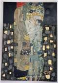 Gustav Klimt oil on canvas, Hand carved painting