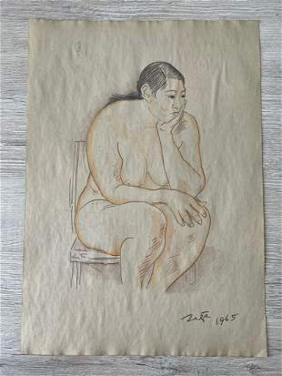 Francisco Zuñiga drawing, Sealed -in the style of
