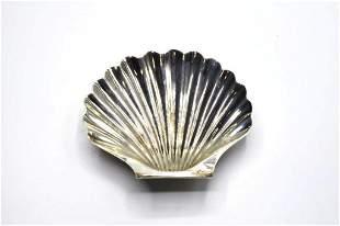 George II Sterling Silver Shell Sweetmeat Dish