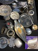 Lot of Silver plated or silver colored items
