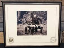 Framed Civil War Printed Photograph - D