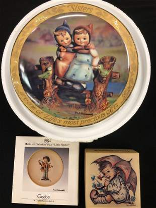 Hummel Collectible Plate, Mini Plate & Puzzle