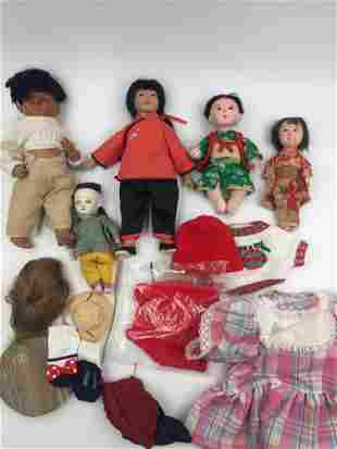Lot of Dolls and Doll Accessories