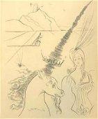 Salvador Dali (1904-1989), Lady and the Unicorn