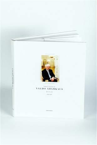 Book by Valdas Adamkus with President's autograph