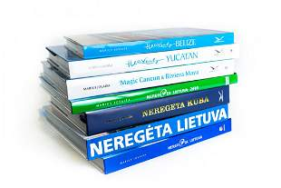 Book series by Marius Jovaisa with his autograph
