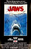 JAWS Autograph Signed Poster Steven Spielberg