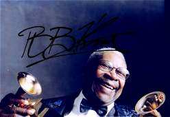 BB King Autograph Signed Photo