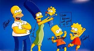 Matt Groening Autograph Signed Simpsons Poster