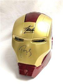 Iron Man Robert Downy Jr Stan Lee Signed Mask