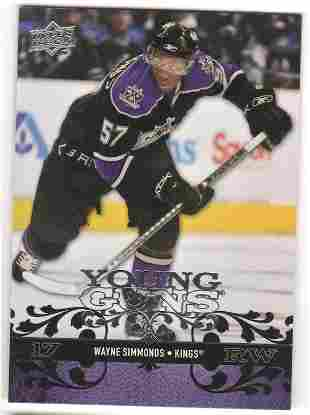 2008-09 Upper Deck 221 Wayne Simmonds Rookie YG Young