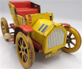 OLD TIN TOY CAR 1910s FRICTION VINTAGE FORD T