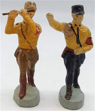 2X HITLER YOUTH SA FLUTE HEIL HITLER FIGURINE TOY