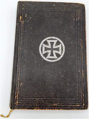 WW2 IRON CROSS HARD COVER BOOK 1919 GERMAN GERMANY