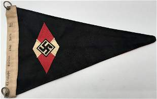 WWII HITLER YOUTH HJ BERLIN PENNANT FLAG RZM
