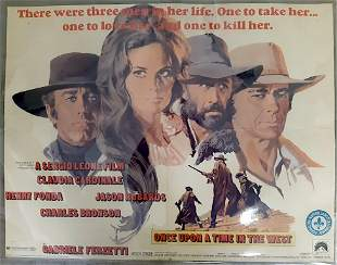 ORIGINAL THEATER MOVIE POSTER ONCE UPON A TIME IN THE