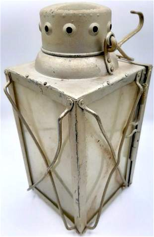 WW2 GERMAN LUFTWAFFE BUNKER ALUMINIUM CANDLE LAMP